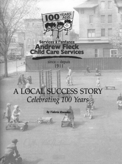 Andrew Fleck Child Care Services: A Local Success Story – Celebrating 100 Years